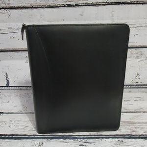 Franklin Covey Quest Black Leather Binder/Planner